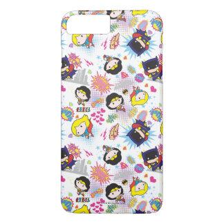 Chibi Super Heroine Pattern iPhone 8 Plus/7 Plus Case