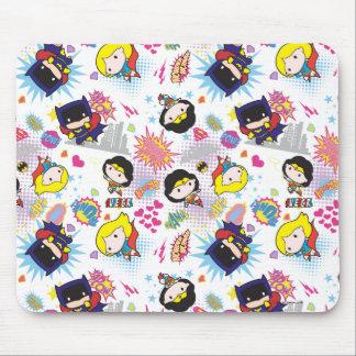 Chibi Super Heroine Pattern Mouse Pad