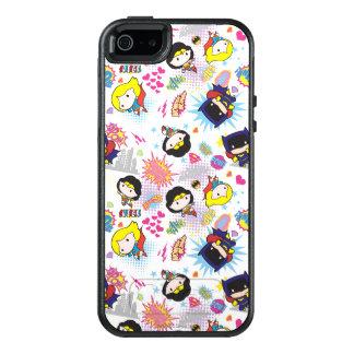 Chibi Super Heroine Pattern OtterBox iPhone 5/5s/SE Case