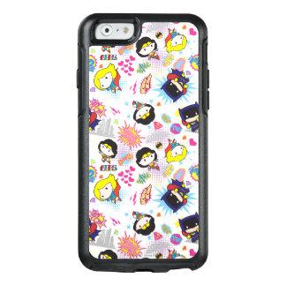 Chibi Super Heroine Pattern OtterBox iPhone 6/6s Case
