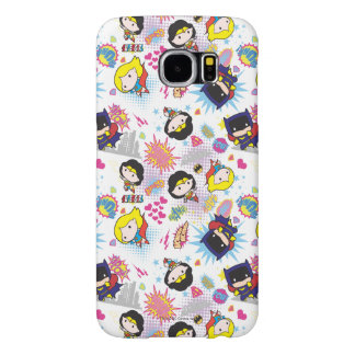 Chibi Super Heroine Pattern Samsung Galaxy S6 Cases