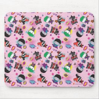 Chibi Super Villain Action Pattern Mouse Pad