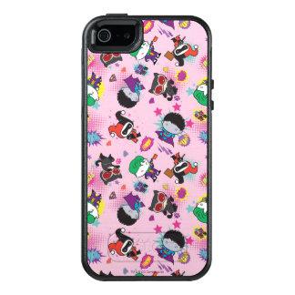 Chibi Super Villain Action Pattern OtterBox iPhone 5/5s/SE Case
