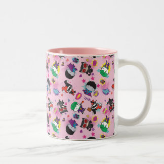 Chibi Super Villain Action Pattern Two-Tone Coffee Mug