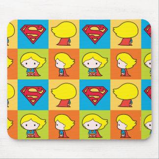 Chibi Supergirl Character Turnaround Mouse Pad