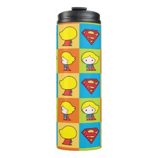 Chibi Supergirl Character Turnaround Thermal Tumbler