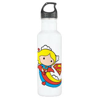 Chibi Supergirl Flying Rainbow 710 Ml Water Bottle