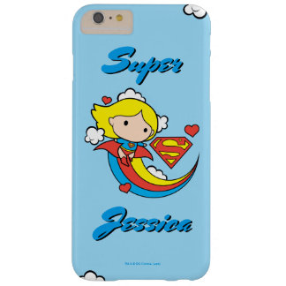 Chibi Supergirl Flying Rainbow Barely There iPhone 6 Plus Case