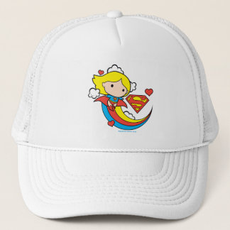 Chibi Supergirl Flying Rainbow Trucker Hat