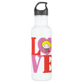 Chibi Supergirl LOVE 710 Ml Water Bottle