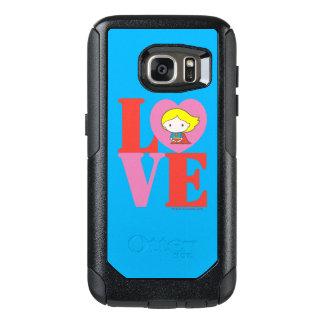 Chibi Supergirl LOVE OtterBox Samsung Galaxy S7 Case