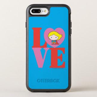 Chibi Supergirl LOVE OtterBox Symmetry iPhone 7 Plus Case