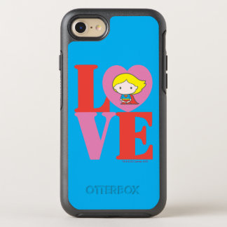 Chibi Supergirl LOVE OtterBox Symmetry iPhone 8/7 Case