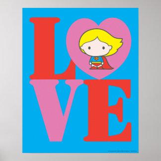 Chibi Supergirl LOVE Poster