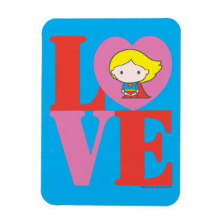Chibi Supergirl LOVE Rectangular Photo Magnet