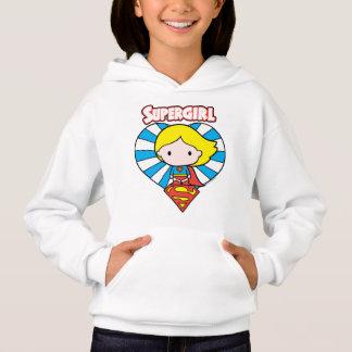 Chibi Supergirl Starburst Heart and Logo