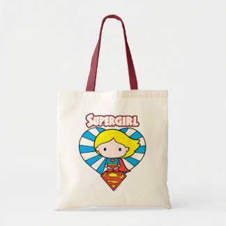 Chibi Supergirl Starburst Heart and Logo