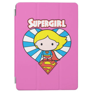 Chibi Supergirl Starburst Heart and Logo iPad Air Cover