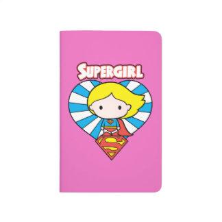 Chibi Supergirl Starburst Heart and Logo Journal