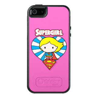 Chibi Supergirl Starburst Heart and Logo OtterBox iPhone 5/5s/SE Case