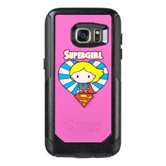 Chibi Supergirl Starburst Heart and Logo OtterBox Samsung Galaxy S7 Case