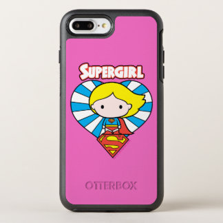 Chibi Supergirl Starburst Heart and Logo OtterBox Symmetry iPhone 8 Plus/7 Plus Case