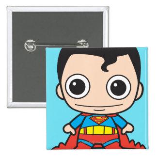 Chibi Superman 15 Cm Square Badge