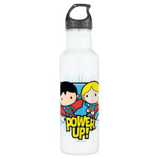 Chibi Superman & Chibi Supergirl Power Up! 710 Ml Water Bottle
