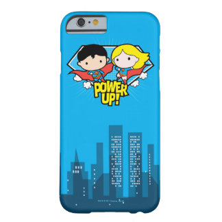 Chibi Superman & Chibi Supergirl Power Up! Barely There iPhone 6 Case