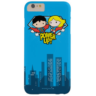 Chibi Superman & Chibi Supergirl Power Up! Barely There iPhone 6 Plus Case