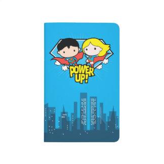 Chibi Superman & Chibi Supergirl Power Up! Journal