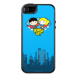 Chibi Superman & Chibi Supergirl Power Up! OtterBox iPhone 5/5s/SE Case