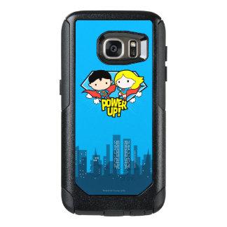 Chibi Superman & Chibi Supergirl Power Up! OtterBox Samsung Galaxy S7 Case