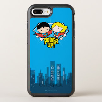 Chibi Superman & Chibi Supergirl Power Up! OtterBox Symmetry iPhone 8 Plus/7 Plus Case