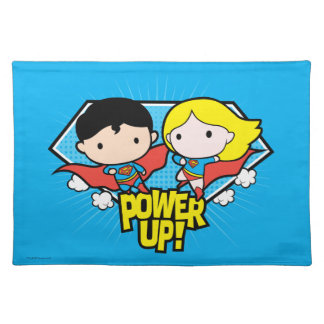 Chibi Superman & Chibi Supergirl Power Up! Placemat