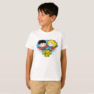 Chibi Superman & Chibi Supergirl Power Up! T-Shirt