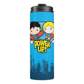 Chibi Superman & Chibi Supergirl Power Up! Thermal Tumbler