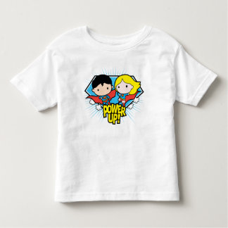 Chibi Superman & Chibi Supergirl Power Up! Toddler T-Shirt