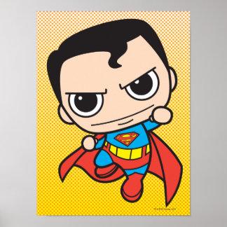Chibi Superman Flying Print