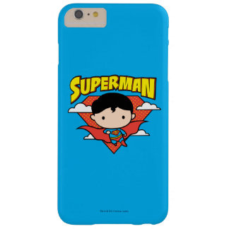 Chibi Superman Polka Dot Shield and Name Barely There iPhone 6 Plus Case