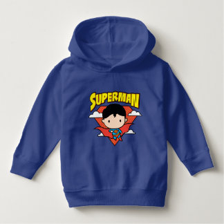 Chibi Superman Polka Dot Shield and Name Hoodie