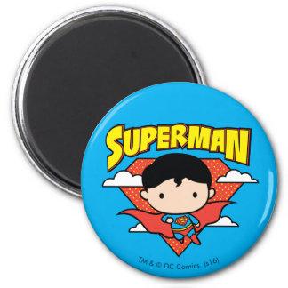 Chibi Superman Polka Dot Shield and Name Magnet