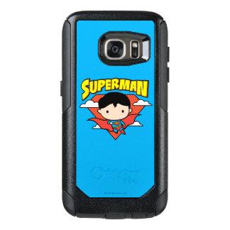 Chibi Superman Polka Dot Shield and Name OtterBox Samsung Galaxy S7 Case