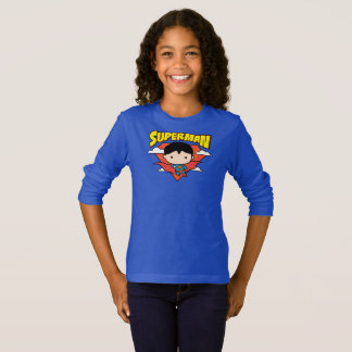 Chibi Superman Polka Dot Shield and Name T-Shirt