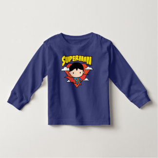 Chibi Superman Polka Dot Shield and Name Toddler T-Shirt