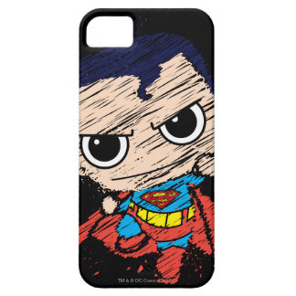 Chibi Superman Sketch - Flying iPhone 5 Cases
