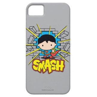 Chibi Superman Smashing Through Brick Wall iPhone 5 Cases