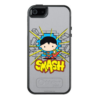 Chibi Superman Smashing Through Brick Wall OtterBox iPhone 5/5s/SE Case