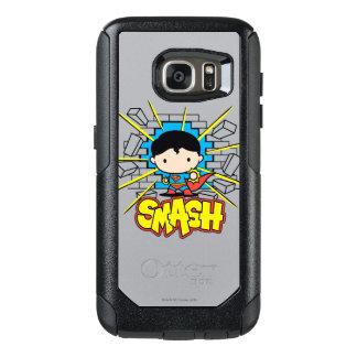 Chibi Superman Smashing Through Brick Wall OtterBox Samsung Galaxy S7 Case