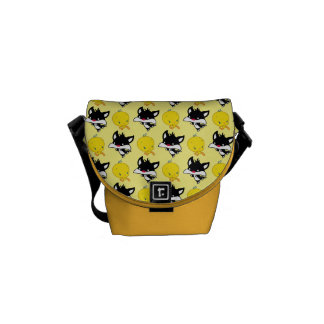 Chibi SYLVESTER™ Chasing TWEETY™ Courier Bags